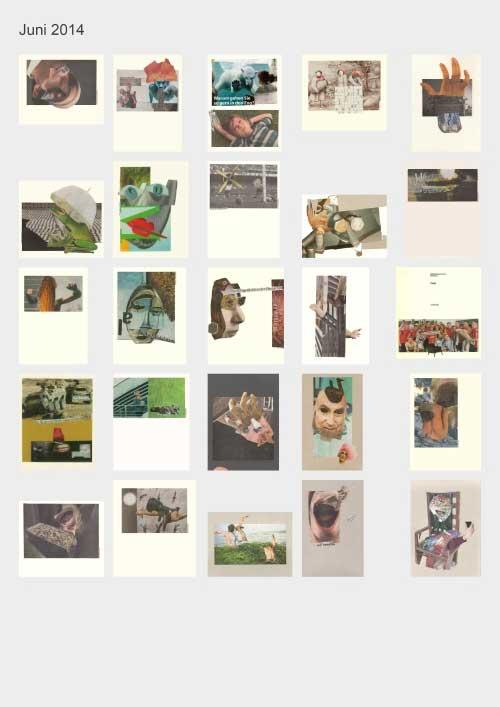 Zeitungshacker 25 Thumbnails Collageprojekt Juni 2014